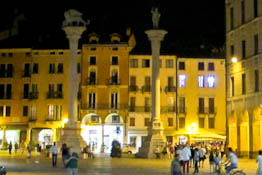 Vicenza at night